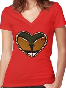 Sailor Jerry Booty Variant  Women's Fitted V-Neck T-Shirt