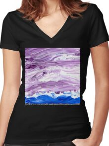 Malignant Cove Women's Fitted V-Neck T-Shirt