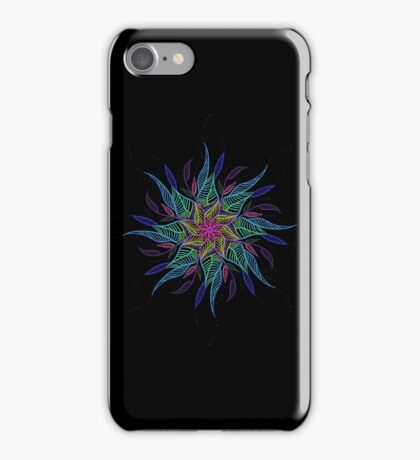 Neon Flower Mandala iPhone Case/Skin