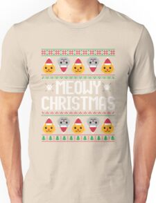 Ugly Christmas Sweater - Cat Unisex T-Shirt