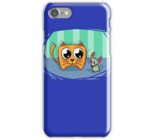 Cat and Mouse Friends Cartoon Abstract Art iPhone Case/Skin