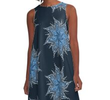 Ice Bay Mandala A-Line Dress