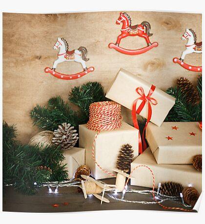 Christmas stuff for handmade Christmas toys Poster
