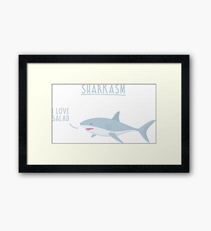 Sharkasm Framed Print