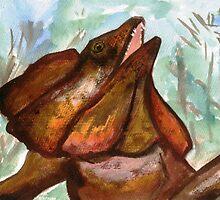 Australian Frilled Neck Lizard  by blakvyne