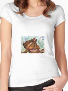 Australian Frilled Neck Lizard  Women's Fitted Scoop T-Shirt
