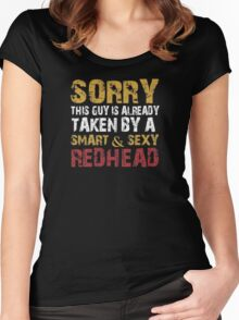 Sorry this guy is already taken by a smart & sexy Redhead - Tshirts & Hoodies Women's Fitted Scoop T-Shirt