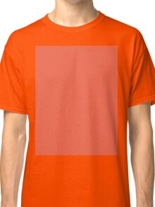 Girly chic trendy summer color orange peach coral pink Classic T-Shirt