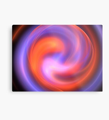 Orange Curve Metal Print