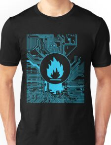 Cybergoth - Flammable (blue) Unisex T-Shirt