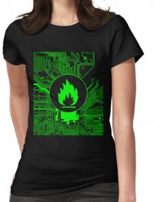 Cybergoth - Flammable (green) Womens Fitted T-Shirt