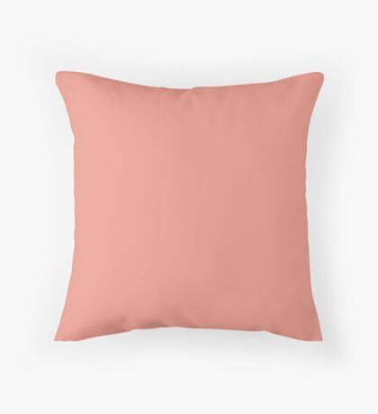Boho chic girly peach color Blush Pink Coral  Throw Pillow
