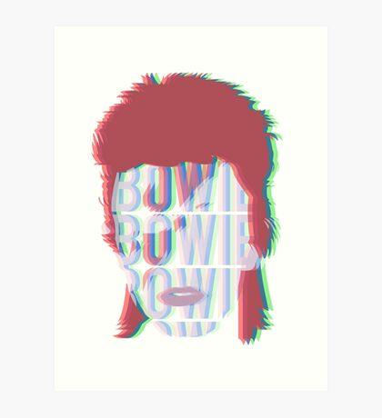 RGB David Bowie Art Print