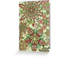 Christmas Kaleidoscope Floral 3 Greeting Card