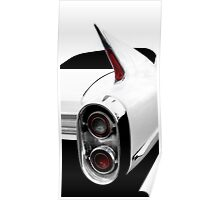 1960 Cadillac Tailfin Detail - High Contrast Poster