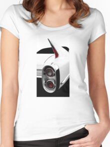 1960 Cadillac Tailfin Detail - High Contrast Women's Fitted Scoop T-Shirt