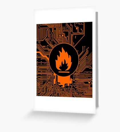 Cybergoth - Flammable (orange) Greeting Card