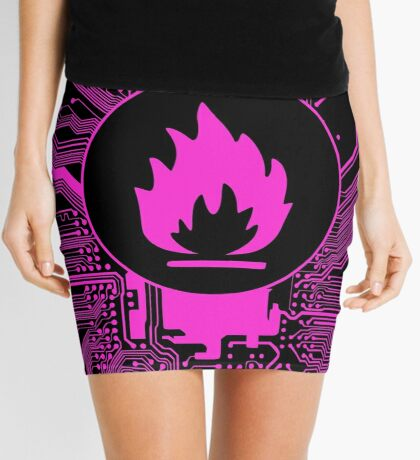 Cybergoth - Flammable (pink) Mini Skirt