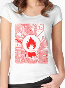 Cybergoth - Flammable (red) Women's Fitted Scoop T-Shirt