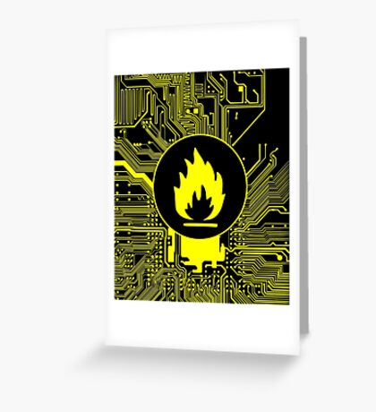 Cybergoth - Flammable (yellow) Greeting Card