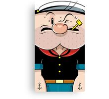 Compressed-popeye Canvas Print