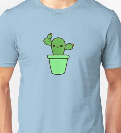 Cute cactus in green pot Unisex T-Shirt