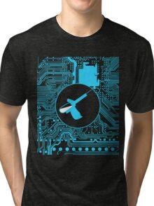 Cybergoth - Syringe (blue) Tri-blend T-Shirt