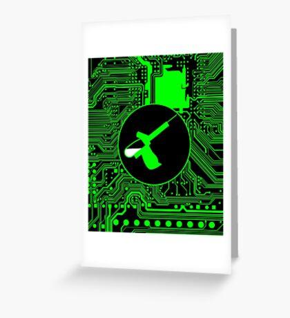 Cybergoth - Syringe (green) Greeting Card