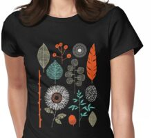 I love green and flower Shirt Womens Fitted T-Shirt