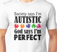 Autism Awareness Ribbon Mom black Unisex T-Shirt