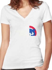Chicago Cubs The North Side Women's Fitted V-Neck T-Shirt