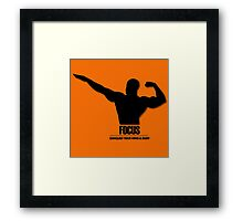 Focus Conquer your Mind and Body v2 Framed Print