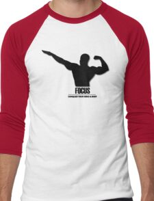 Focus Conquer your Mind and Body v2 Men's Baseball ¾ T-Shirt