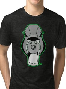 Mallard Down Lime Green Logo Tri-blend T-Shirt