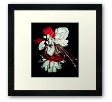 Flower so like whipped cream Framed Print