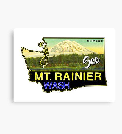 SEE MOUNT RAINIER WASHINGTON NATIONAL PARK CASCADES VINTAGE TRAVEL Canvas Print