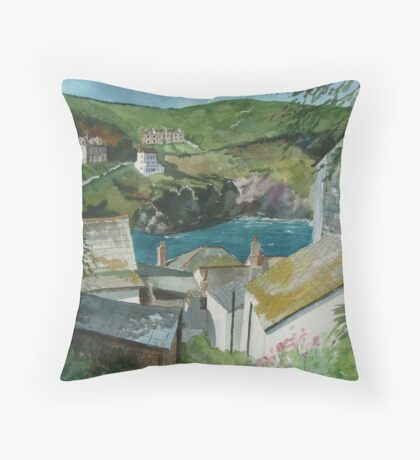 """Down to the Sea"" - Port Isaac, Cornwall Throw Pillow"