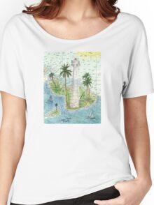 Lahaina Lighthouse HI Nautical Chart Cathy Peek Women's Relaxed Fit T-Shirt