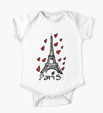 Eiffel Tower,Paris One Piece - Short Sleeve