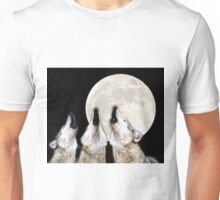 Wolves Howling at the Beaver Moon Unisex T-Shirt