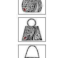 3 bag doodles by Jacqueline Eden