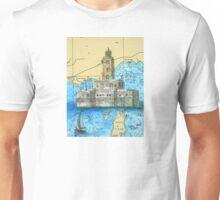 Lansing Shoals Lighthouse MI Chart Cathy Peek Unisex T-Shirt