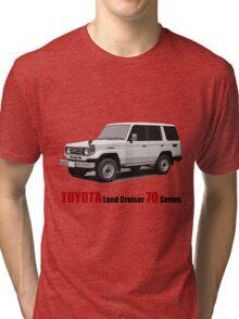 Toyota Land Cruiser 70 Series HZJ77 (machito) Tri-blend T-Shirt