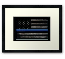 Honor the Blue Framed Print