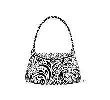 Handbag Doodle Photographic Print