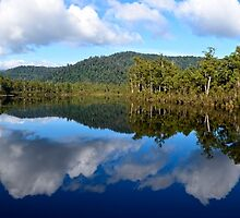 Reflections on Lake Rosebery by Chris  Randall