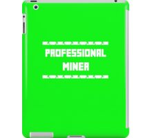 Professional miner logo minecraft iPad Case/Skin