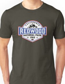 REDWOOD NATIONAL PARK CALIFORNIA REDWOODS MOUNTAINS HIKE HIKING CAMP CAMPING 2 Unisex T-Shirt
