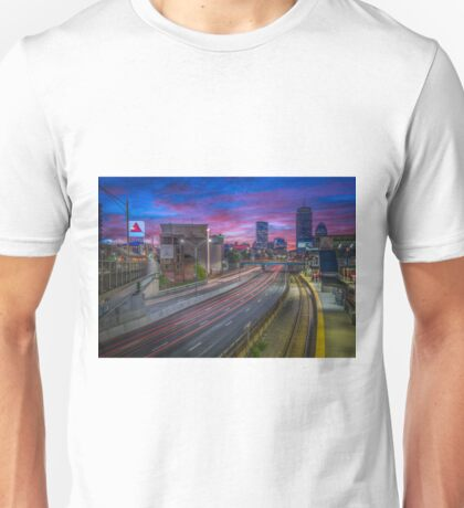 Kenmore Square in Boston, Massachusetts. Unisex T-Shirt