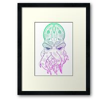 Octopus Graphic Framed Print